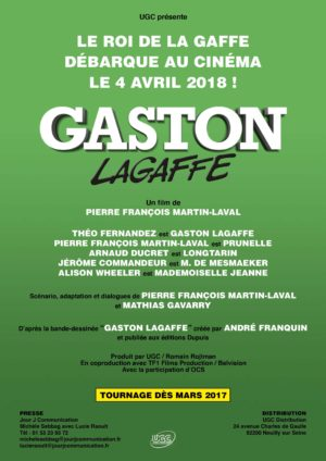 Announcement poster for Gaston Lagaffe film (image from demotivateur.fr)