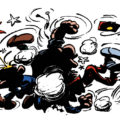 'Bravo les Brothers' intro thumbnail, from JdS #1434 (ill. Franquin; Copyright (c) 1965 Dupuis and the artist; SR scanlation)