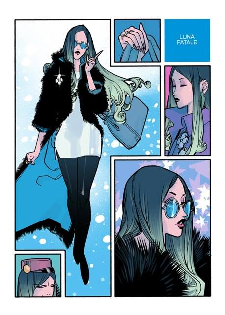 Luna Fatale study for 'Spirou Comics' (ill. David Lafuente; Copyright (c) the artist; Spirou (c) Dupuis; image from facebook.com/tkid.toussaint)