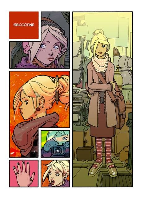 Seccotine study for 'Spirou Comics' (ill. David Lafuente; Copyright (c) the artist; Spirou (c) Dupuis; image from facebook.com/tkid.toussaint)
