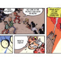 """Spirou's Exquisite Corpse"" p. 54 ('Spirou: Un Cadavre Exquis'; ill. Jacques Louis; Copyright (c) 2011 Dupuis and the artist; SR scanlation)"
