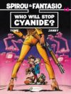 """Who Will Stop Cyanide?"" cover EN (Spirou & Fantasio #35 'Qui arrêtera Cyanure ?'; ill. Tome & Janry; Copyright (c) 2017 Cinebook, Dupuis and the artists; image from cinebook.com)"