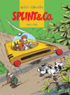 Splint & Co. 'Nic & Cauvin 1980–1983' cover DK (Spirou intégrale vol. 12; ill. Nic & Cauvin; Copyright (c) 2017 Forlaget Zoom, Dupuis and the artists; image from saxo.dk)