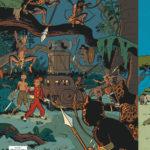 'Spirou au Kongo Belche', bruxellois back cover for 'Le Maître des hosties noires' (