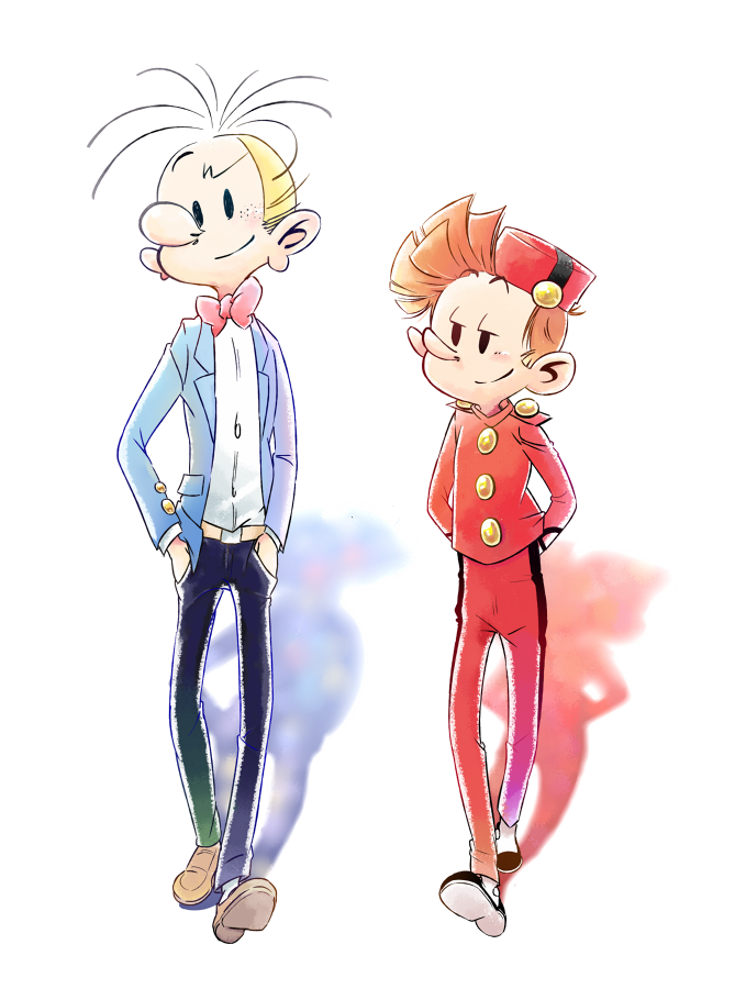 Spirou and Fantasio (ill. spirouffering; Copyright (c) 2017 by the artist; Spirou (c) Dupuis; image from spirouffering.tumblr.com)