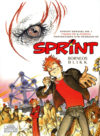 """Sprint: Borneos Blikk"" cover NO (Spirou de... #10 'La Lumière de Bornéo'; ill. Frank & Zidrou; Copyright (c) 2017 Egmont, Dupuis and the artists; image from facebook.com)"