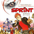 """Sprint Spesial #1: Borneos Blikk"" cover NO (Spirou de... #10 'La Lumière de Bornéo'; ill. Frank & Zidrou; Copyright (c) 2017 Egmont, Dupuis and the artists; image from facebook.com)"
