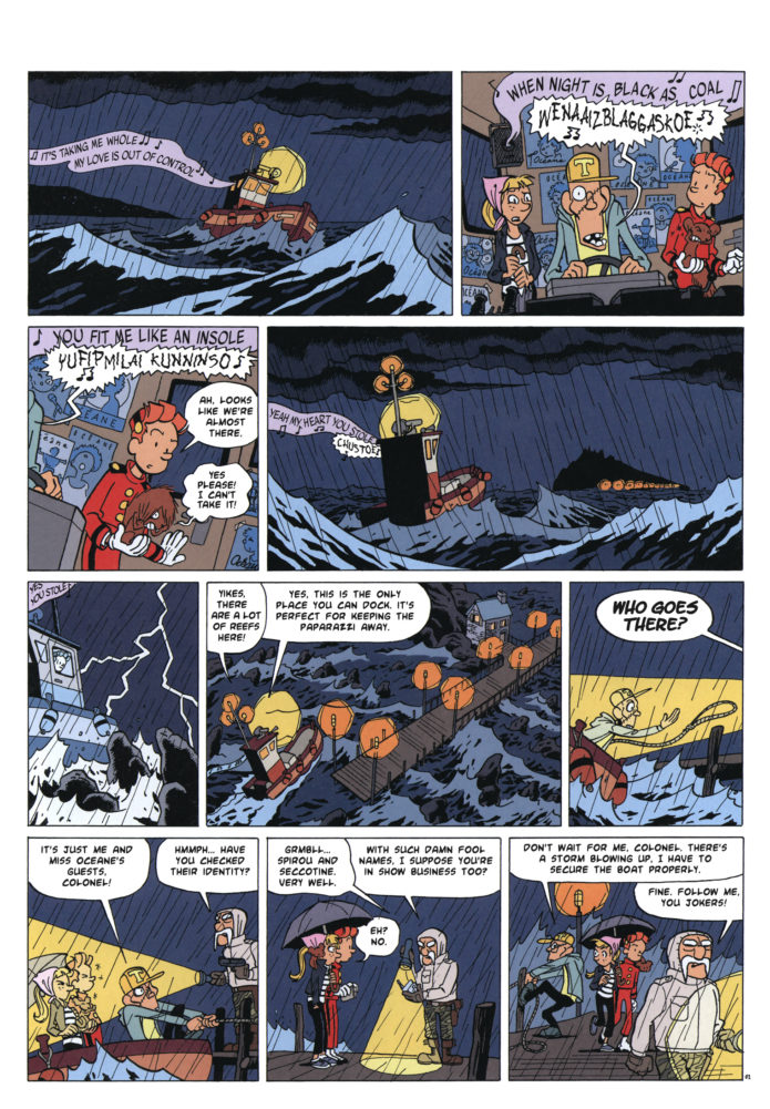"From Journal de Spirou #4127, 'Spirou et l'affaire du pingouin' p. 2 (""Spirou and the Case of the Missing Penguin""; ill. Pascal Jousselin; Copyright (c) 2017 Dupuis and the artist; SR scanlation)"