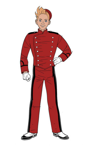 Spirou Comics tryout sample, Spirou (ill. José María Beroy & Kid Toussaint; Copyright (c) 2017 by the artists; Spirou (c) Dupuis; image from beroyweb.blogspot.com)